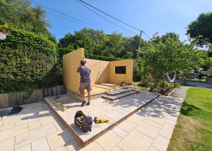 SIP Garden Room under construction