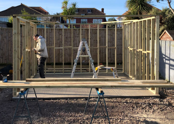 Garden Room Construction in Progress