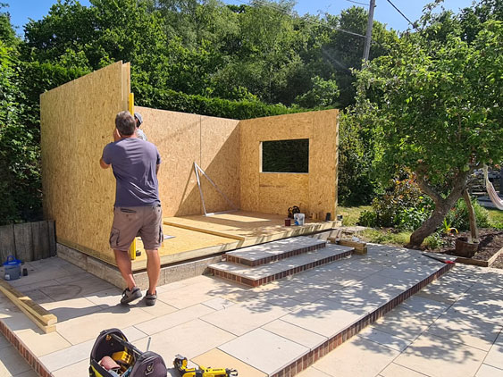 SIPs Garden Room Under Construction