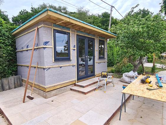 SIPs Garden Room Under Construction